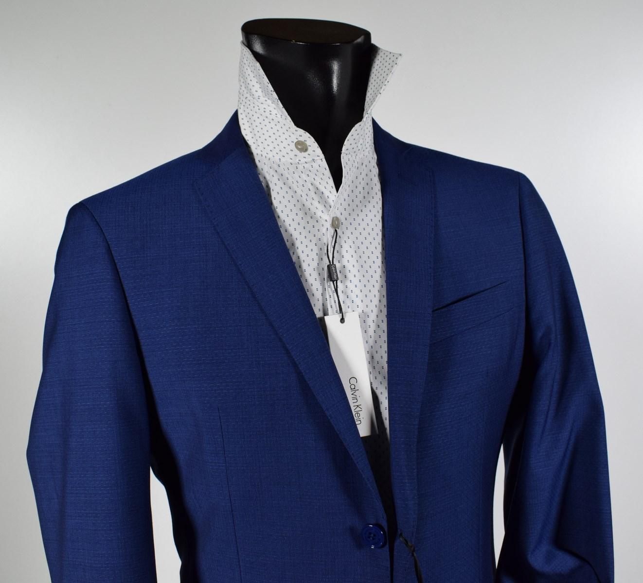 watch def1c 17a77 Dettagli su Abito moda uomo John Barritt Slim Fit Blu Marine micro disegno  Collezione 2019